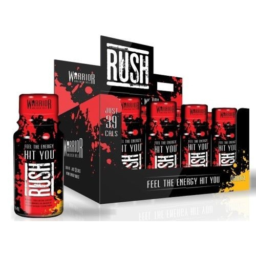 Warrior Rush Energy Shot Drink  x1  Orange