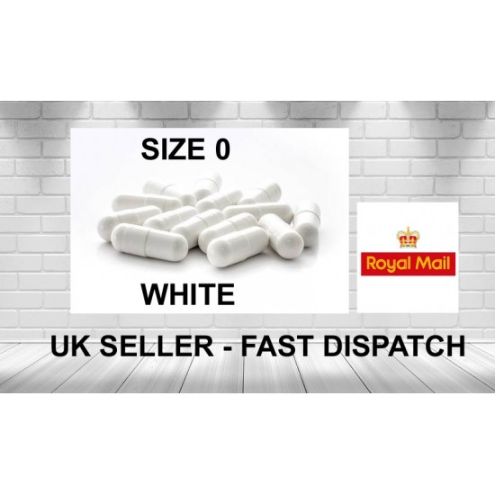 Buy White size 0 Empty Filling Capsules
