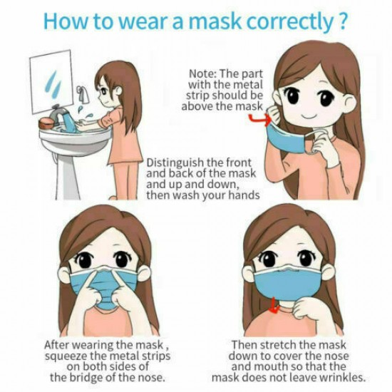 Surgical Face Mask - Mouth and Nose Protection